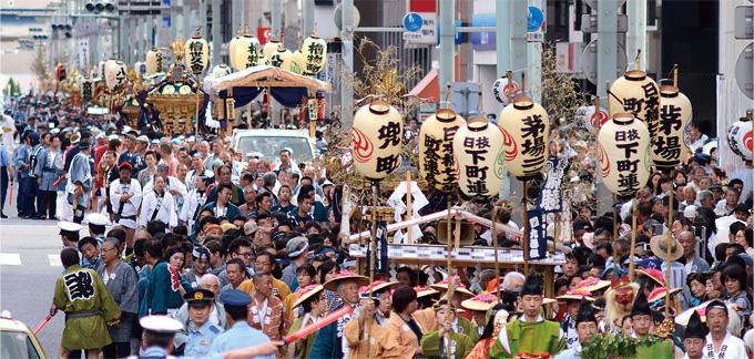 山王祭の神輿行列 今月の特集 「日本橋ごよみ」のご紹介 まち日本橋